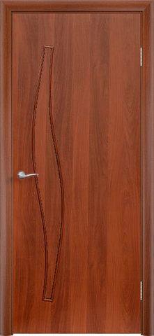Дверь Сибирь Профиль Волна (С-10), цвет итальянский орех, глухая