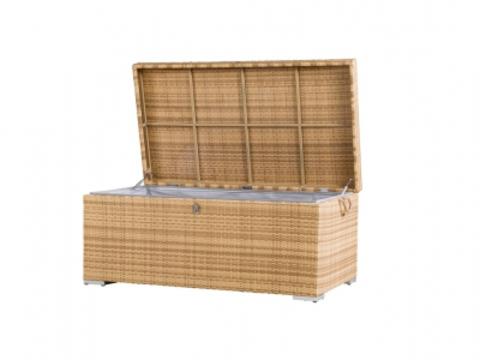 Ящик для хранения вещей плетеный «Монте-карло», желтый (4SIS)