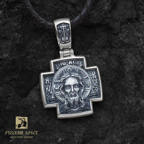 Крест нательный православный серебро Георгий Победоносец