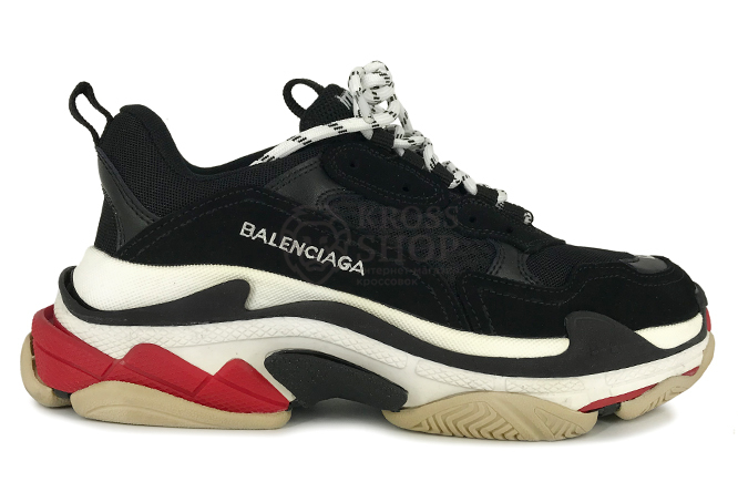 Balenciaga Men's Triple S Black/White