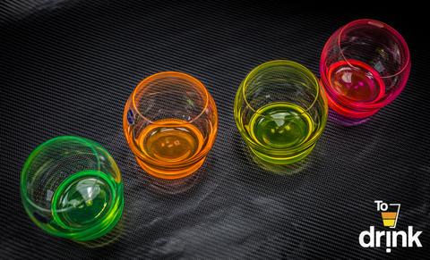 Набор из 4 цветных бокалов Crazy, 390 мл