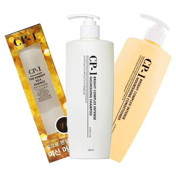 Esthetic House Шампунь + Кондиционер + Эссенция CP-1 Nourishing Shampoo + Conditioner + Silk Essence, 500+500+150 мл