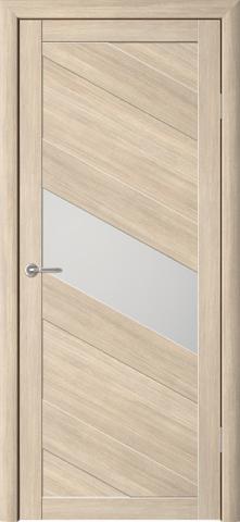 Дверь Фрегат ALBERO Сингапур-1, стекло матовое, цвет лиственница мокко, остекленная