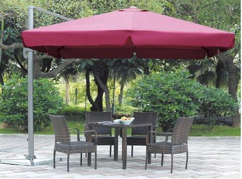Зонт от солнца на боковой опоре Luxe 3 м Red