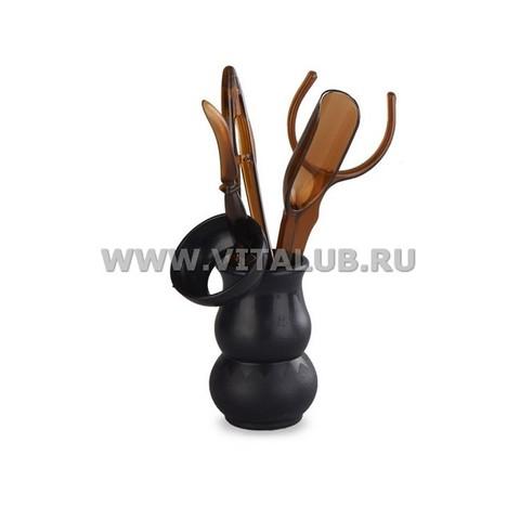 Инструменты для чайной церемонии (Темный пластик) 6 предметов. Интернет магазин чая