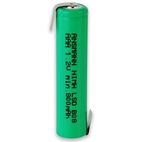 Аккумулятор AAA  NiMH ANSMANN 1.2V 900mAh с контактами