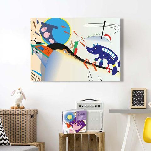 Картина «Синий волк» 40х60см