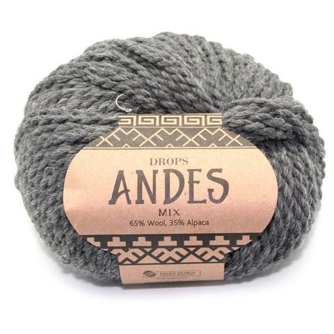Пряжа Drops Andes 0519 темно-серый