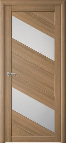 Дверь Фрегат ALBERO Сингапур-2, стекло матовое, цвет кипарис янтарный, остекленная