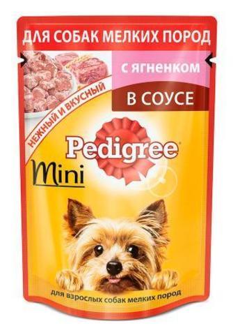 """Корм для собак мини пород """"Pedigree"""" С ягненком 85г"""