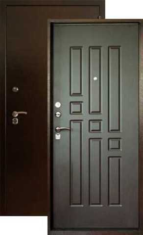 Дверь входная Форт  Б-6, 2 замка, 1,8 мм  металл, (медь антик+венге)