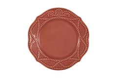Тарелка закусочная Villa (красная) без инд.упаковки Matceramica