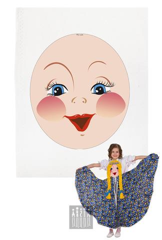 Фото Платковая кукла / Русская девочка (лицо) рисунок Купить платковые куклы от производителя! Каталог платковых кукол для театра в детском саду.