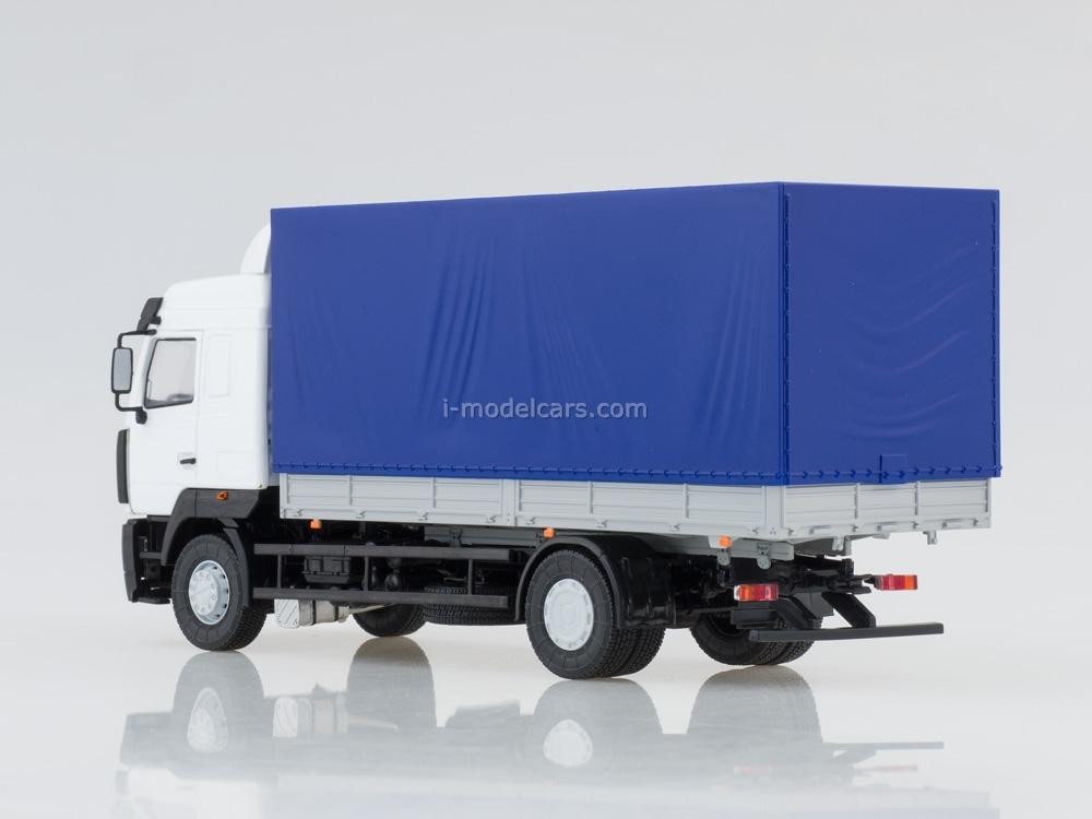 MAZ-5340 flatbed white-blue 1:43 AutoHistory
