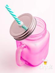 Матовая баночка для смузи - Розовая