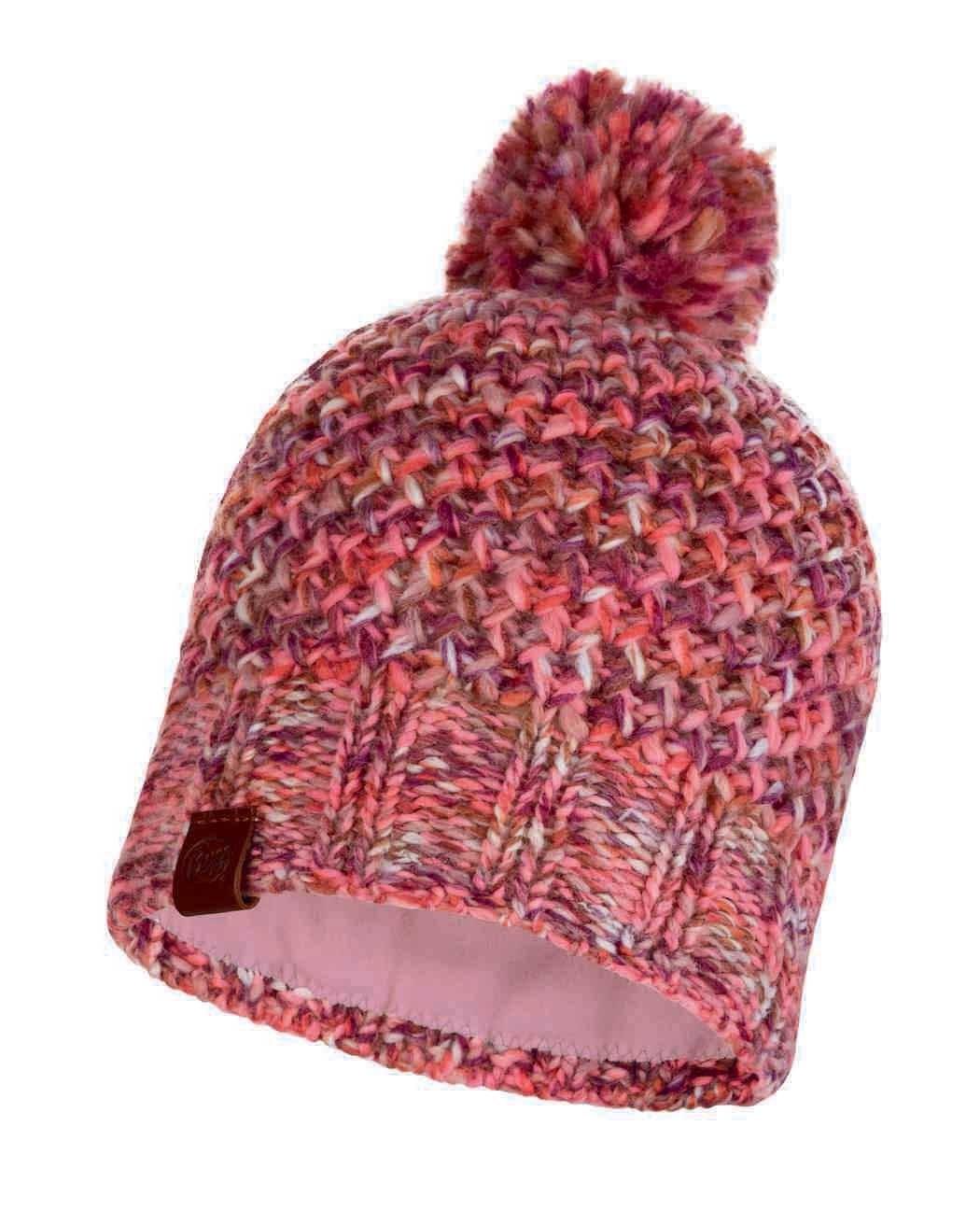 Шапки с помпоном Вязаная шапка с флисовой подкладкой Buff Hat Knitted Polar Margo Flamingo Pink 113513.560.10.00.jpg