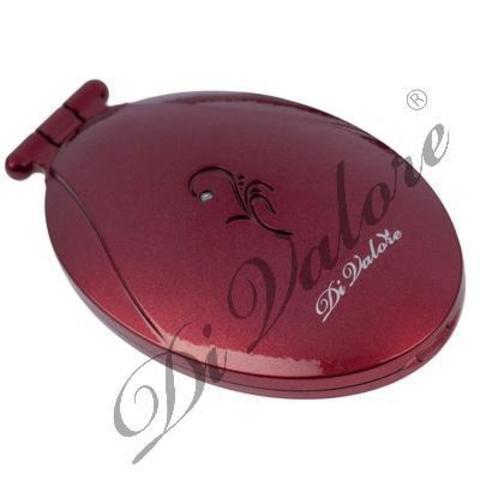 Di Valore Зеркало карманное овальное, красное 8,6*5,3*1,7см 114-001
