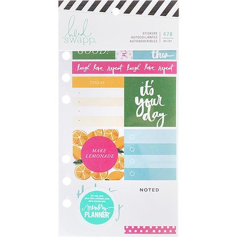 Стикербук - Heidi Swapp Memory Planner Cardstock Stickers - Fresh Start, Playful-478 шт