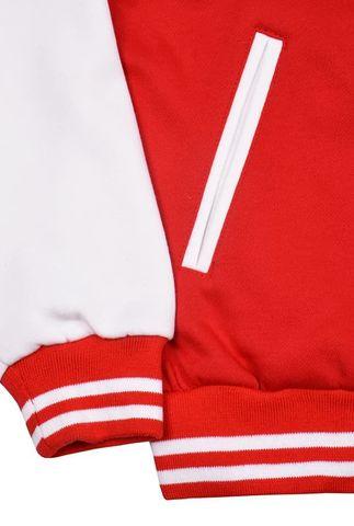 Бомбер красный с белым фото манжет