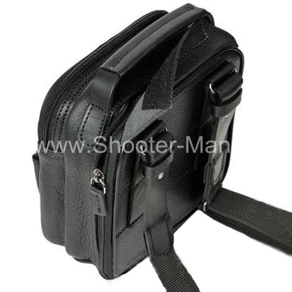 Сумка кобура для скрытого ношения пистолета № 1 кожаная фото