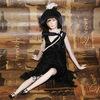 Кукла фарфоровая коллекционная Marigio Luisa 42 см в черном