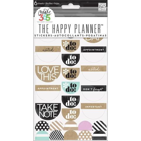 Блокнот со стикерами для ежедневника Create 365 Planner Stickers- Love This Neutral