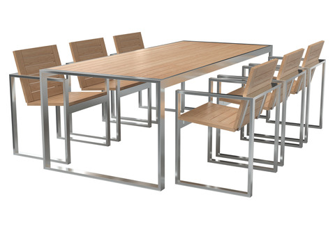 Стол обеденный со стульям ПАВИЛЬОН массив дерева, комплект мебели триф