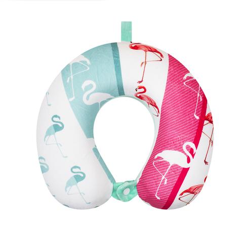 Подушка дорожная Flamingos 2