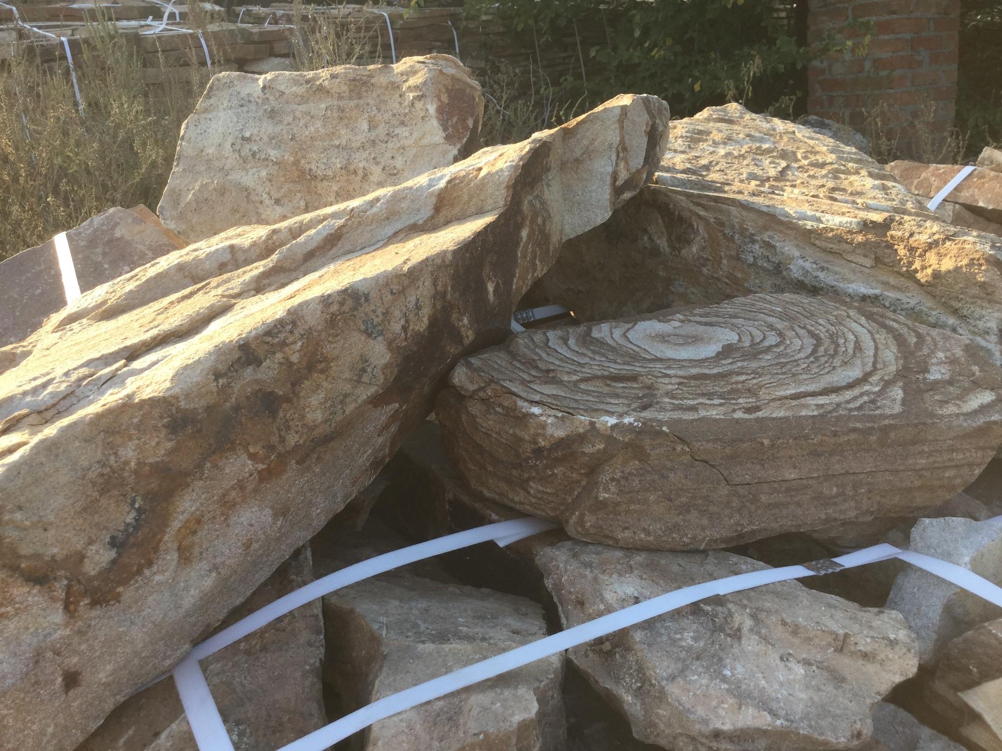 Бутовый камень ландшафтный Ясень на поддоне