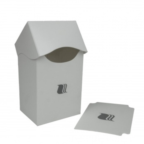 Пластиковая коробочка Blackfire вертикальная - белая (80+ карт)