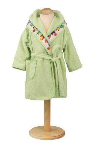 Элитный халат детский шенилловый Entchen зеленый от Feiler