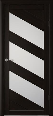 Дверь Фрегат ALBERO Сингапур-3, стекло матовое, цвет кипарис тёмный, остекленная