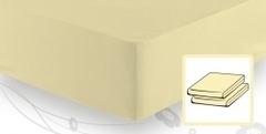 Простыня трикотажная 120-130х200 Elegante 8000 ванильная