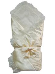 Папитто. Конверт-одеяло с кружевом на завязке