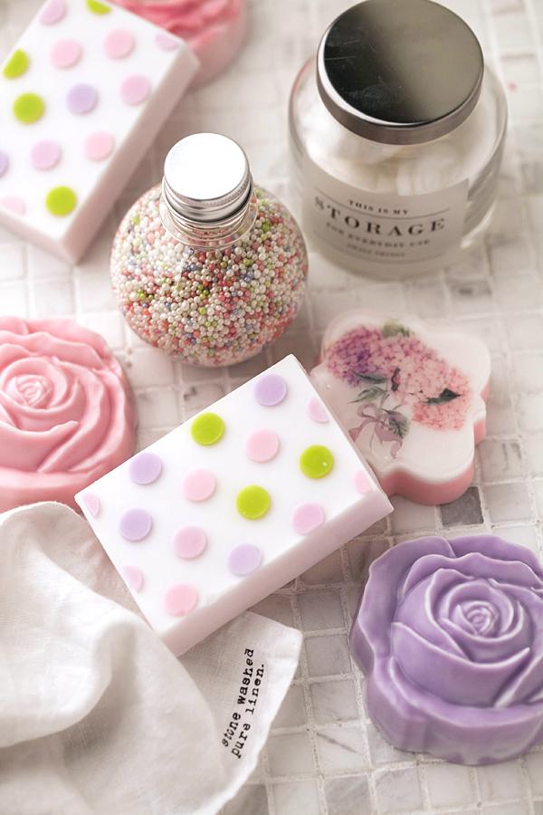 Мыло цветочное Роза. Пластиковая форма