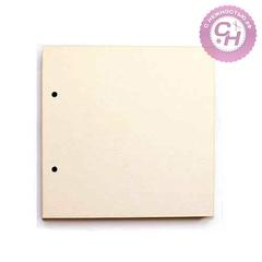 Картон пивной, основа для альбома, 1,2мм, 20*20 см с двумя отверстиями, 1 лист.
