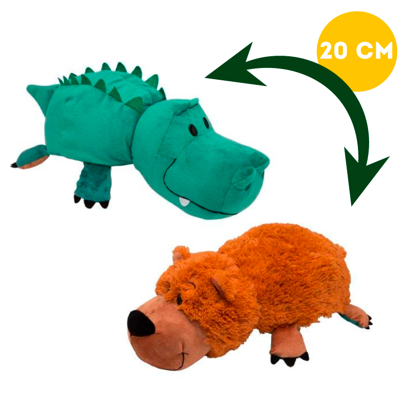 Вывернушка 2в1 Крокодил-Медведь, 20 см - Вывернушки, артикул: 963256