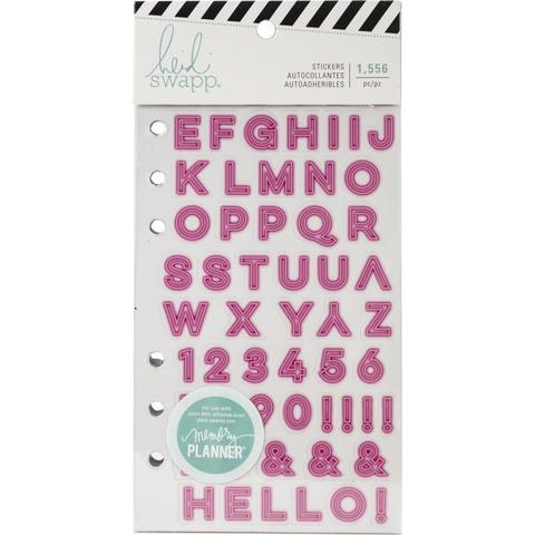 Стикербук - Heidi Swapp Memory Planner Cardstock Stickers - Color Fresh, Alphabet- 1556 шт