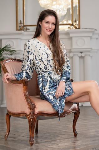 Удлиненная рубашка Mia Amore Solomea 3517 (70% натуральный шелк)