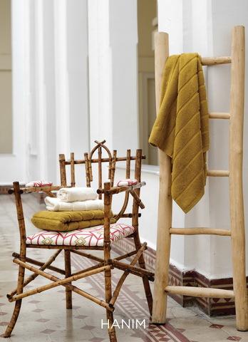 Элитный коврик для ванной Hanim горчичный от Hamam