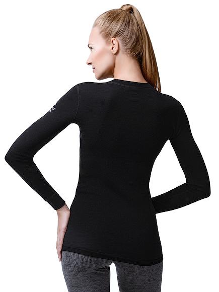 Норвег софт  женский комплект из шерсти мериноса черный