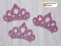 Заготовка корона маленькая розовая