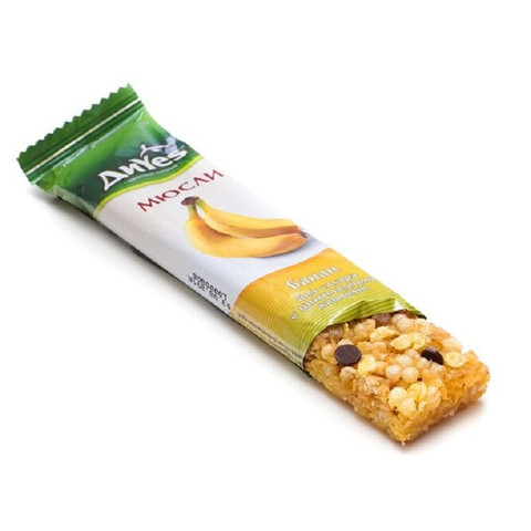 Батончик мюсли ДиYes банан без сахара с шоколадными каплями 25гр
