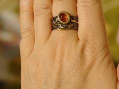 Пилси-черный(кольцо + серьги из серебра)