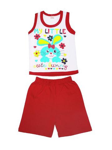 DL054-70-9-9 костюм детский (шорты+майка), красный