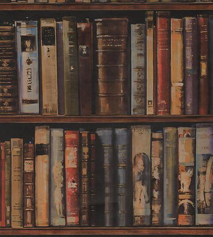 Обои Andrew Martin Navigator Library Multi  (комплект из 2 рулонов), интернет магазин Волео