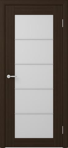 Дверь Фрегат ALBERO Сан-Ремо 5, стекло триплекс белый, цвет кипарис тёмный, остекленная