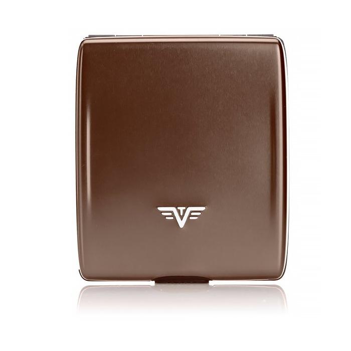 Кошелек c защитой Tru Virtu BELUGA, цвет кофейный, 107*93*22 мм