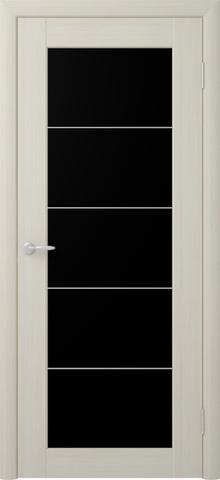 Дверь Фрегат ALBERO Сан-Ремо 5, стекло триплекс чёрный, цвет лиственница мокко, остекленная