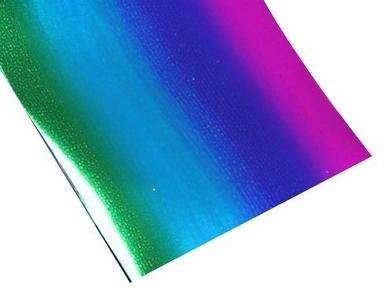 Фольга радужная синяя для дизайна ногтей